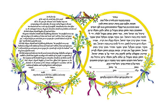 Entwined Rings Ketubah