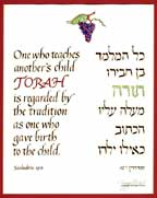 """One who teaches another's child Torah"" Print"