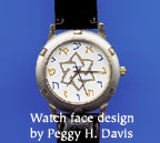 Men's watch with Hebrew Letters for numbers